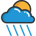 weather, Rain, Storm, sky, rainy, meteorology, raining DodgerBlue icon