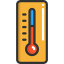 Degrees, Tools And Utensils, thermometer, Mercury, Celsius, Fahrenheit, weather, temperature Goldenrod icon