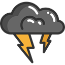 weather, Rain, nature, Storm, thunder, sky, meteorology DarkSlateGray icon