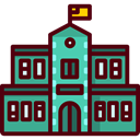 Monuments, Architecture And City, school, education, buildings, Classroom, university, college Maroon icon