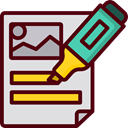 underline, mark, education, writing, studying, School Material, Office Material Maroon icon