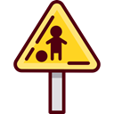 traffic sign, Signaling, warning, school Black icon