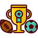 cup, award, trophy, winner, Champion, Sports And Competition Maroon icon