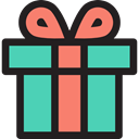 surprise, Christmas Presents, Commerce And Shopping, birthday, gift, present MediumTurquoise icon