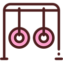 Park, Playground, swing, entertainment, leisure Maroon icon