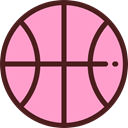 Ball, Park, Playground, childhood, Bench, entertainment LightPink icon