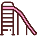 entertainment, Kid And Baby, Toboggan, Park, Playground, childhood Maroon icon