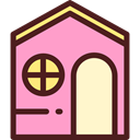 Home, house, Construction, buildings, property, entertainment, real estate LightPink icon