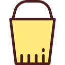 Edit Tools, Bucket, gardening, pail Khaki icon