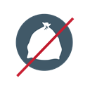 Trash, no bags, No bagged garbage, no bagged recyclables Black icon