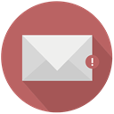 mail, red, warning IndianRed icon