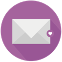 mail, Heart, love, Like RosyBrown icon