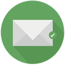 File, save, mail MediumSeaGreen icon
