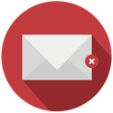 mail, errase, suprime, delete Brown icon