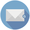 mail, search, looking CornflowerBlue icon