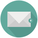 new, mail, upload CadetBlue icon
