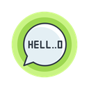 speech, scary, halloween, hello, spooky Black icon