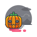 pumpkin, Holiday, decoration, spooky, scary, halloween Black icon