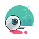 halloween, Holiday, eyeball, spooky, scary Black icon