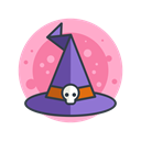 hat, magic, halloween, witch, spooky, scary, Costume Black icon