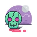 skull, halloween, zombie, Skeleton, spooky, scary Black icon