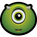 Alien, halloween, martian, spooky, monster, mike, Horn OliveDrab icon