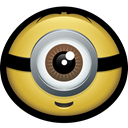 Character, Mascot, Cartoon, dave, Cyclops, minion, stuart Black icon