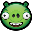 Animal, pig, piggy, Animals, Angry birds, minion YellowGreen icon