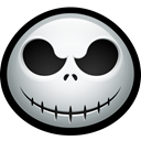 Dead, skull, halloween, jack, skellington, Bones, nightmare Black icon