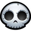 monster, Skeleton, Bones, Dead, skull, halloween Black icon