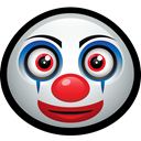 happy, funny, Mask, Clown, carnival, pennywise Black icon