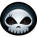 skull, halloween, monster, Skeleton, Reaper, Bones, grim Black icon