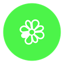 icq, Messenger, Social LimeGreen icon