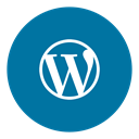 Wordpress, Social DarkCyan icon