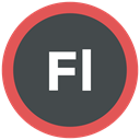 flash professional, format icon, Extension, adobe DarkSlateGray icon