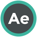 Extension, adobe, after effects, format icon DarkSlateGray icon