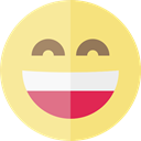 Emoji, feelings, Smileys, happy, emoticons Khaki icon