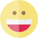 happy, emoticons, Emoji, feelings, Smileys Khaki icon