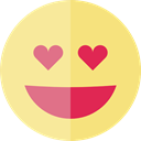 in love, feelings, Smileys, emoticons, Emoji Khaki icon