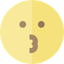 Emoji, feelings, Smileys, kiss, emoticons Khaki icon
