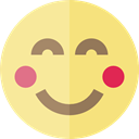 Emoji, feelings, Smileys, Embarrassed, emoticons Khaki icon