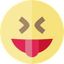 tongue, emoticons, Emoji, feelings, Smileys Khaki icon