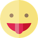 emoticons, Emoji, feelings, Smileys, tongue Khaki icon
