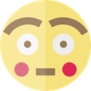 surprised, Embarrassed, emoticons, Emoji, feelings, Smileys Khaki icon