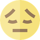 disappointed, emoticons, Emoji, feelings, Smileys Khaki icon