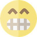 surprised, emoticons, Emoji, feelings, Smileys Khaki icon