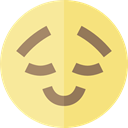 emoticons, Emoji, feelings, proud, Smileys Khaki icon