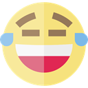laughing, emoticons, Emoji, feelings, Smileys Khaki icon