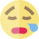 emoticons, Emoji, feelings, bored, Smileys Khaki icon