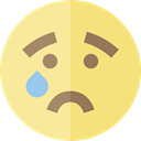 sad, emoticons, Emoji, feelings, Smileys Khaki icon